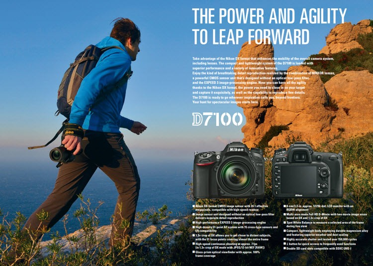 كاميرا نيكون د ي 7100