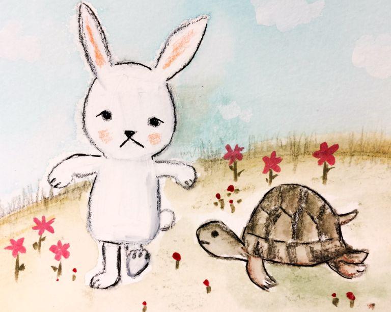 الأرنب المغرور والسلحفاة