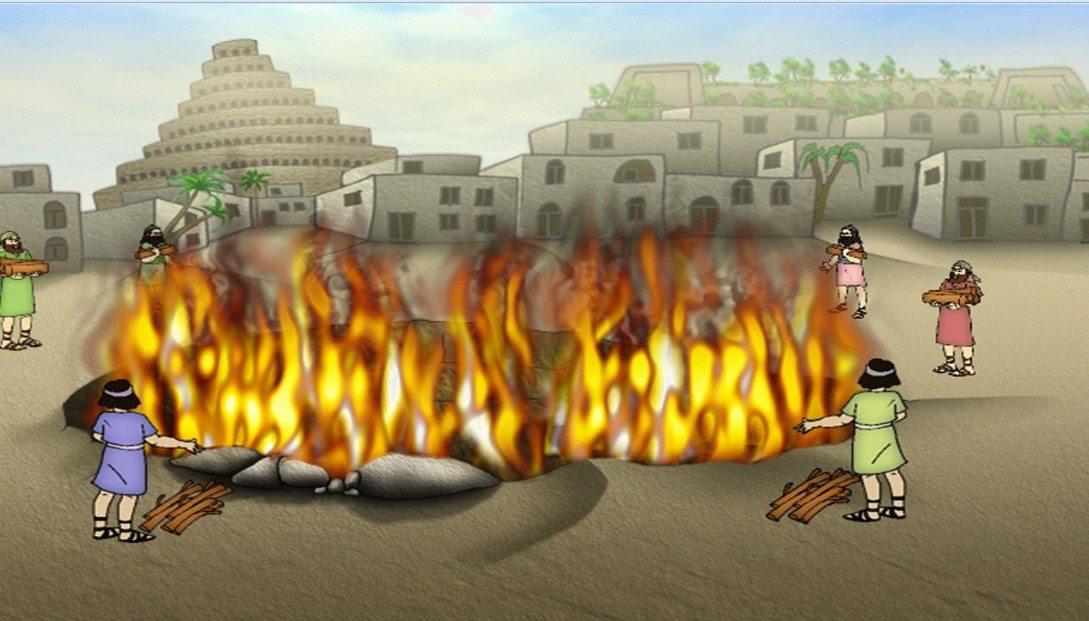 القاء إبراهيم في النار