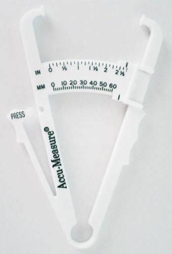 الطريقة الرابعة طريقة الفرجار لقياس الدهون