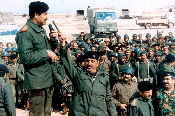 صورة صدام حسين - حرب الخليج الثانية – حرب العراق والكويت 1990