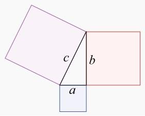 نظرية فيثاغورس في المثلثات بالصيغة الثانية