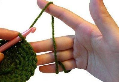 طريقة إمساك خيط الكروشيه 1