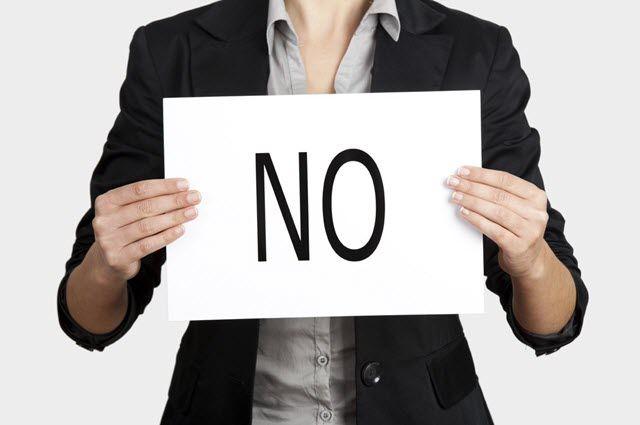 """قل """"لا"""" للأشياء التي لا تريدها"""