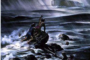 الطوفان يغرق القوم الكافرين