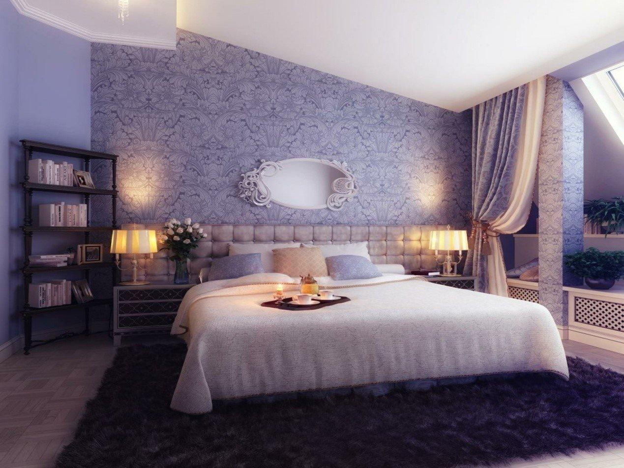 اللون الأزرق في هذه الغرفة يعطي شعورا باردا لمن في داخلها مما يساعد على الاسترخاء والهدوء ووجود البساط من الفرو يعطيها مزيدا من الأناقة