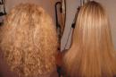تقنية فرد الشعر وعلاجه بالبروتين
