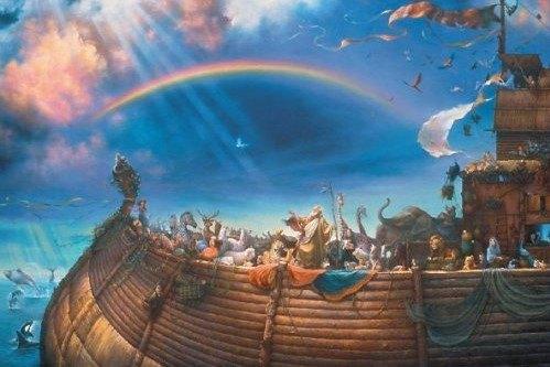 نجاة نوح ومن آمن معه من الطوفان