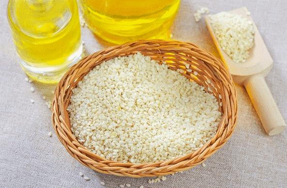 وصف الأرز وزيت السمسم