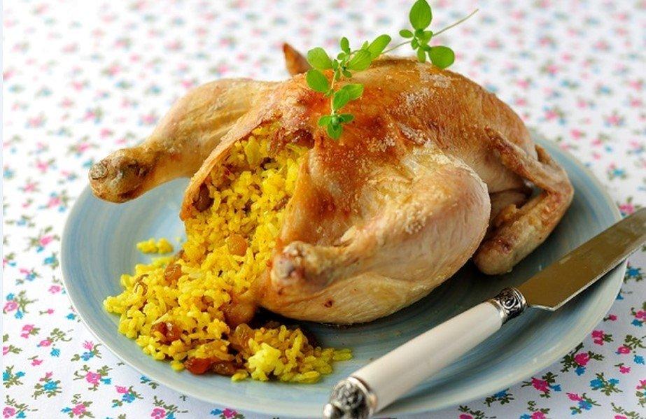 18 – وصفة دجاج محشي أرز بالخلطة.