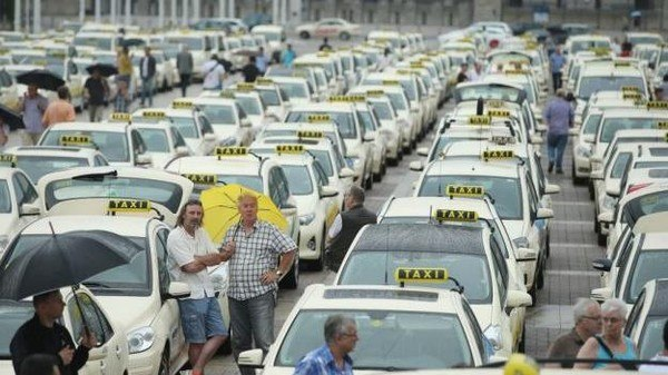 إضراب سائقي سيارات الأجرة في لندن