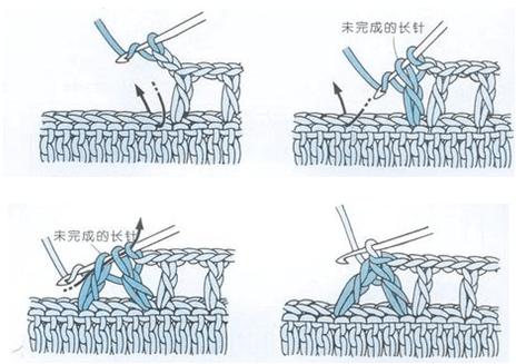 إنقاص غرزة واحدة في غرزة العامود 3