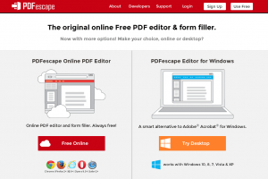 إنشاء وتعديل ملفات PDF أونلاين