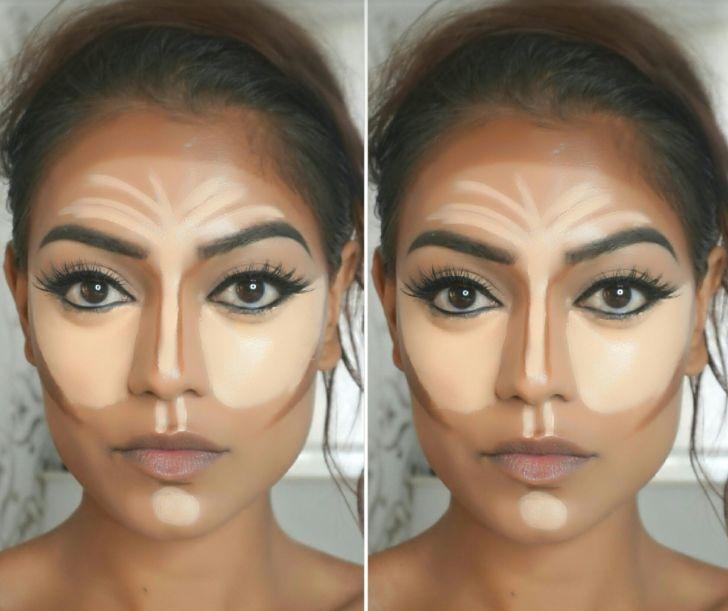 الوجه البيضوي