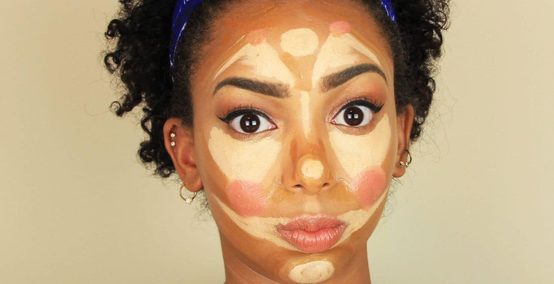 الوجه المثلث المقلوب