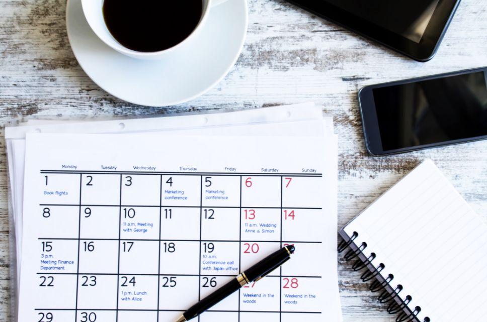 تنظيم جدول تنظيم الوقت
