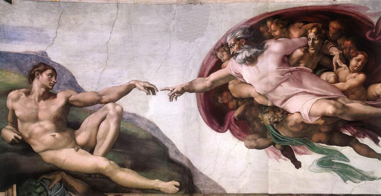 خلق آدم رائعة ميكيل أنجيلو