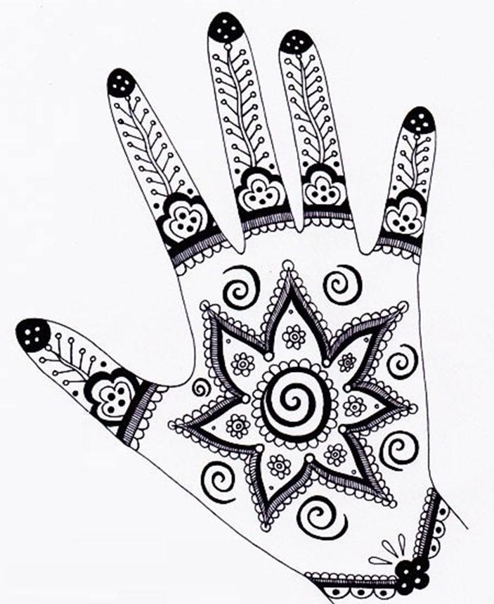 رسم الحنة على اليد