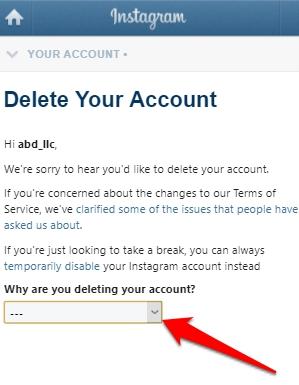 طريقة حذف حساب انستقرام أو إيقافه بشكل مؤقت