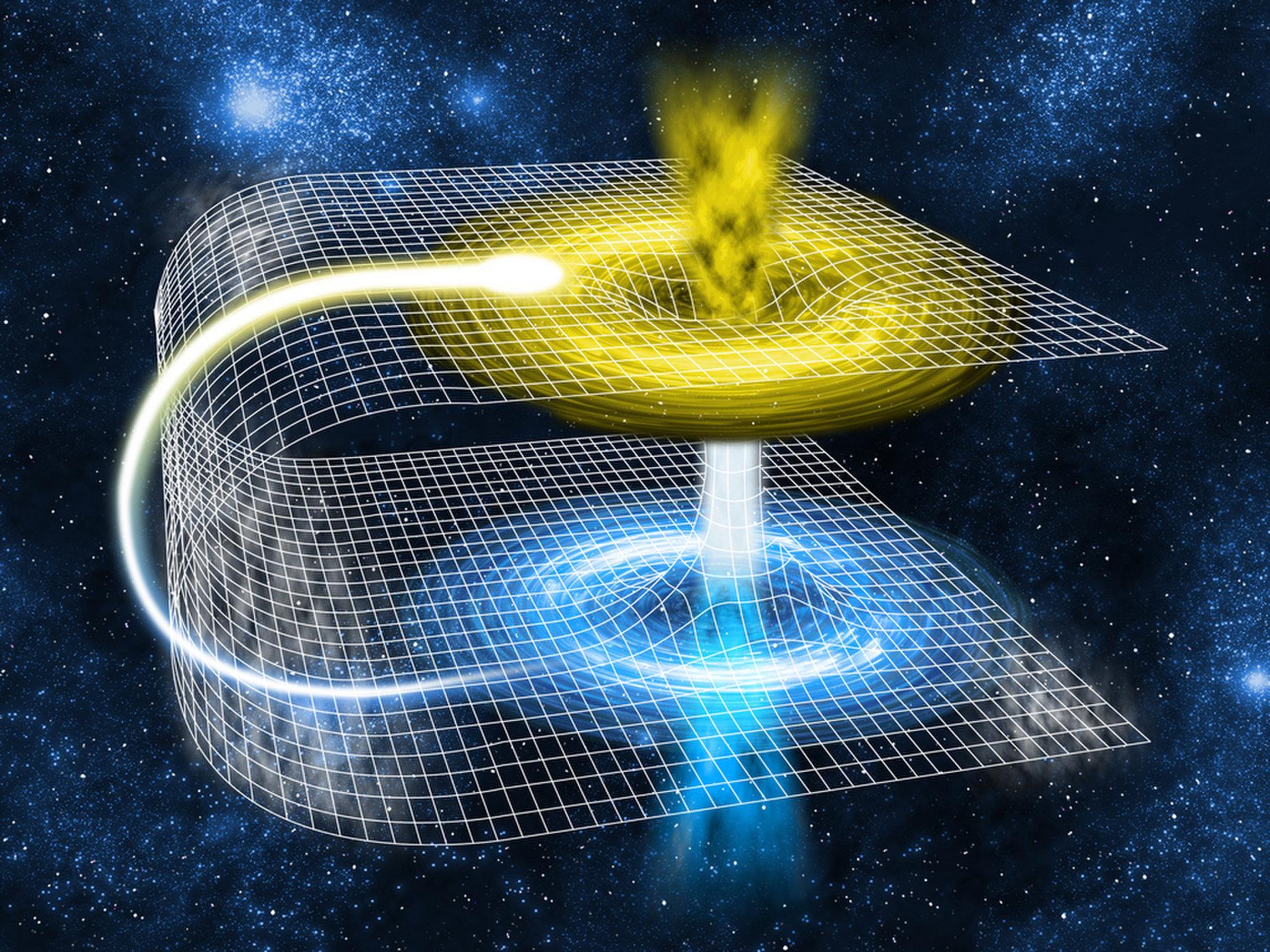 الثقوب الدودية (Through the wormhole)