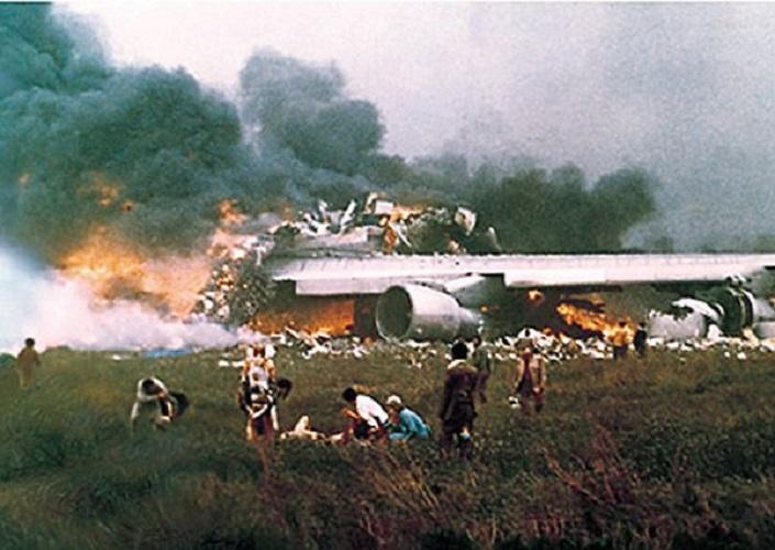 صورة من كارثة مطار تنريف