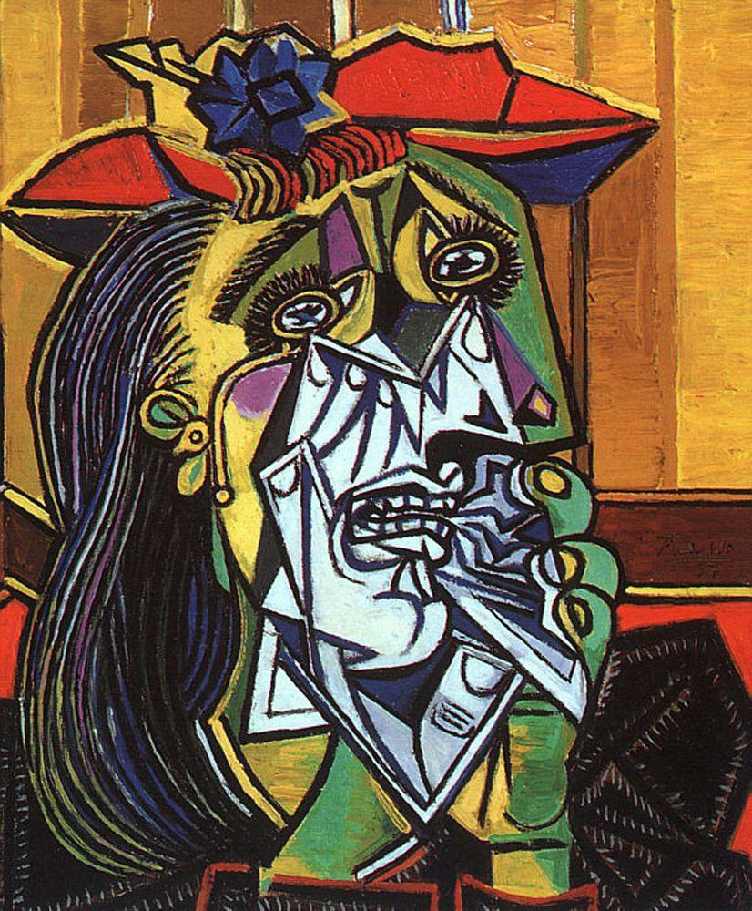 لوحة المرأة الباكية