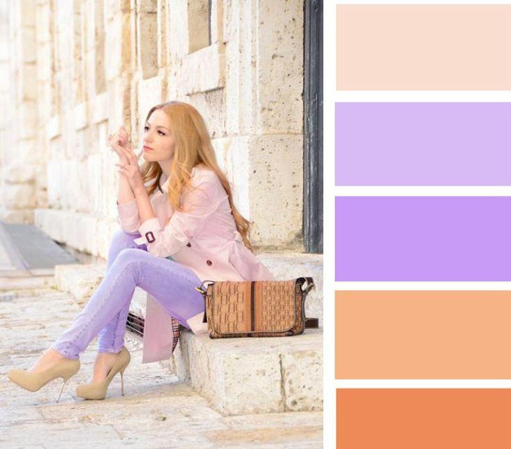 اللون البيج مع ألوان الباستيل