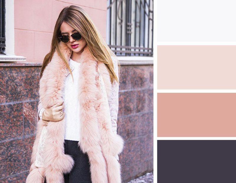 اللون البيج مع الأبيض والرمادي