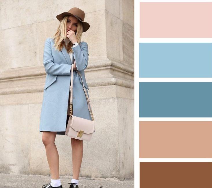 اللون البيج مع الدرجات الهادئة للأزرق