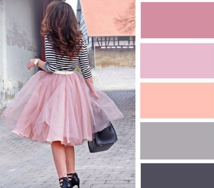 اللون البيج مع درجات الوردي