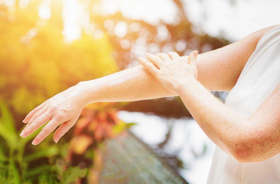 حماية البشرة من أشعة الشمس