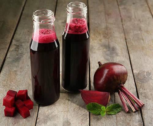 عصير الشمندر الأحمر