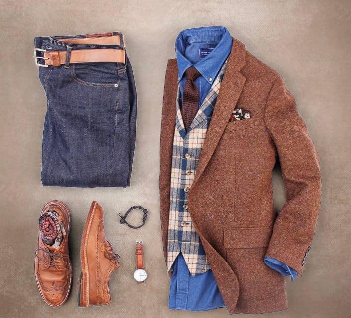 تنسيق الجزم مع الملابس للرجال