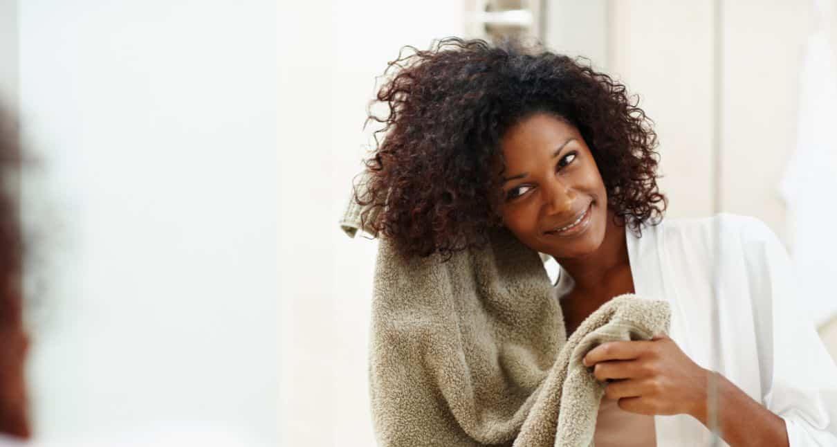 منشفة الشعر