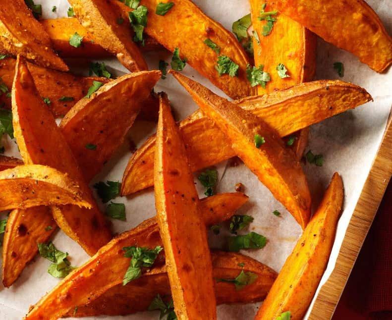 البطاطا الحلوة بالثوم