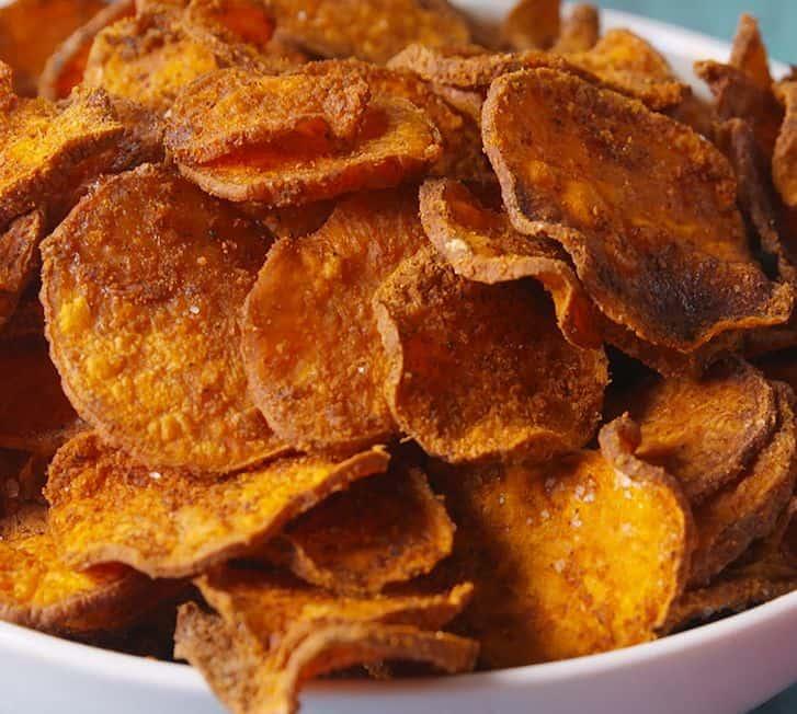 شيبس البطاطا الحلوة وصفات بطاطا حلوة