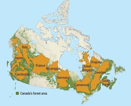 مساحة كندا