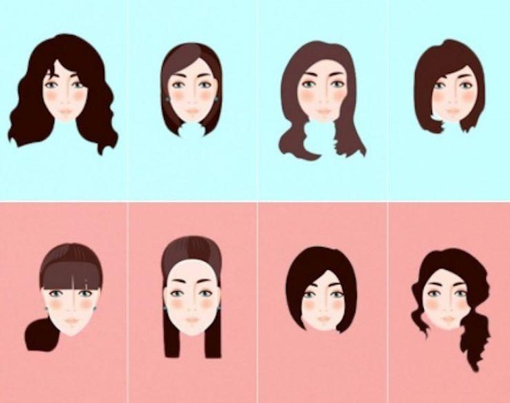 قصات الشعر حسب شكل الوجه للنساء