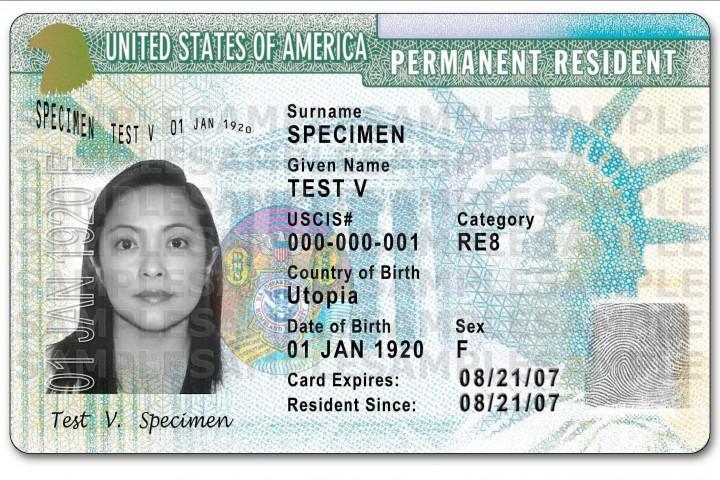البطاقة الخضراء الأمريكية