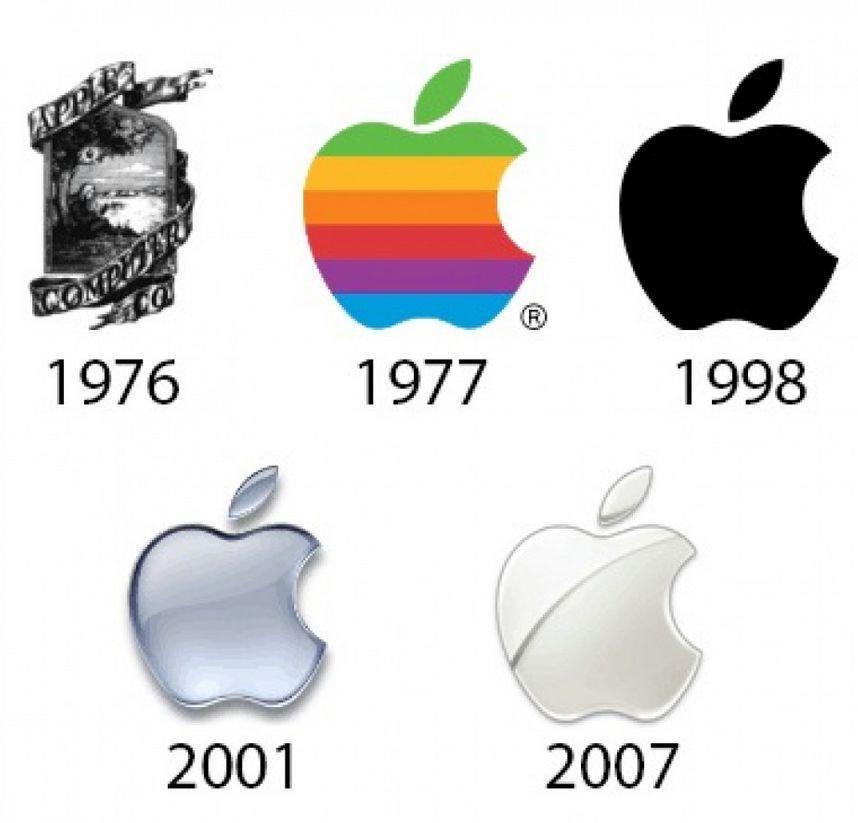 تطور شعار شركة ابل