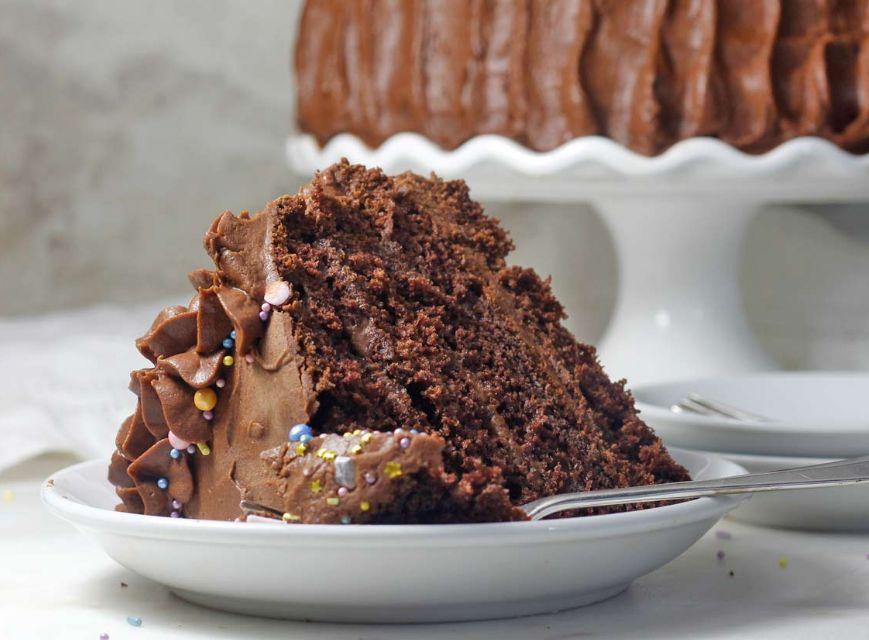كيك صحي للرجيم – كيكة الشوكولا بدون طحين