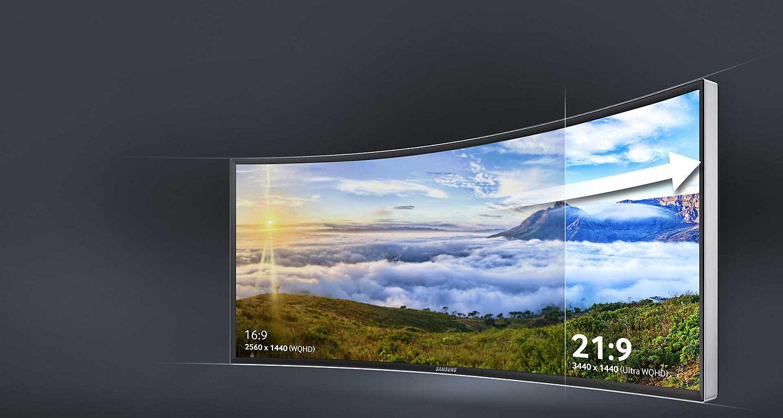 شاشة التلفزيون المنحنية