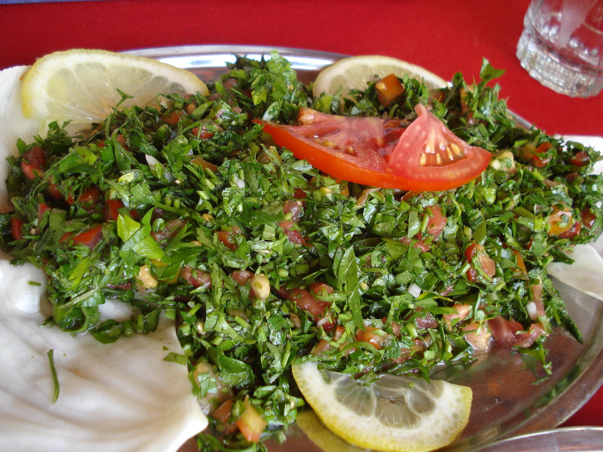 طبق التبولة الشامية