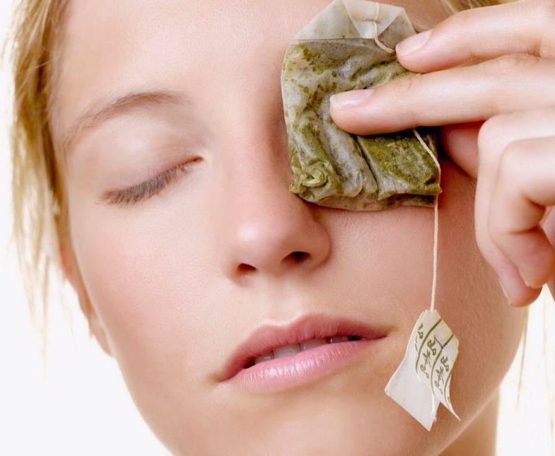 فوائد أكياس الشاي في التخلص انتفاخ العيون