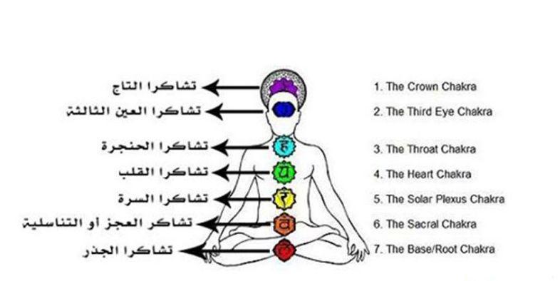 مراكز الطاقة في الجسم