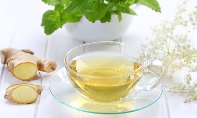 شاي النعناع والزنجبيل