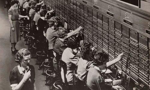 أول مقسم هاتف في نيو هافن ، كونيتيكت ، الولايات المتحدة الأمريكية