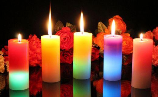 الشموع ... أنواع الشموع ألوانها ومعانيها