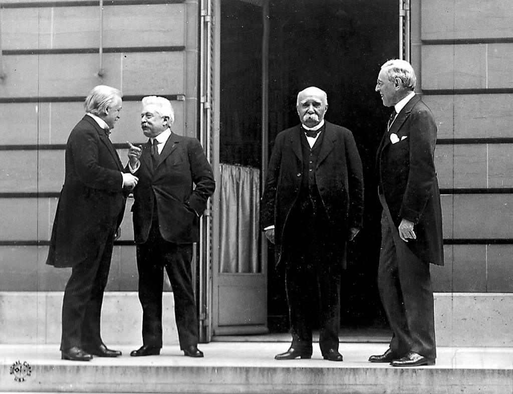 القادة الأربعة الكبار - معاهدة فرساي