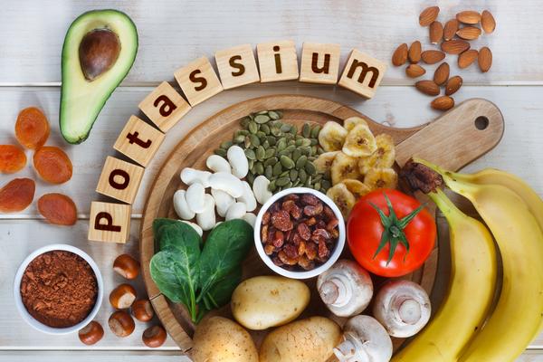 علاج نقص البوتاسيوم بالغذاء